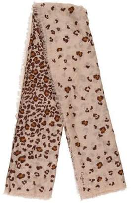 Cartier Panther Print Cashmere Scarf brown Panther Print Cashmere Scarf