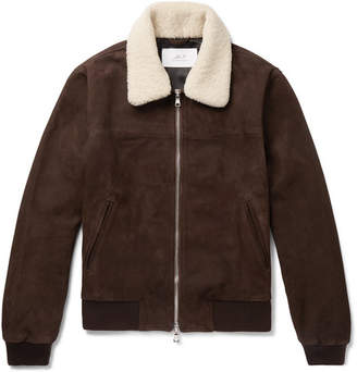 Shearling Leather Jacket Mens Shopstyle