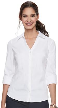 Elle Women's Solid Roll-Tab Shirt