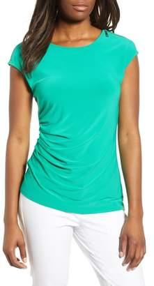 Chaus Zip Shoulder Stretch Jersey Top