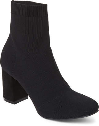 Mia Black Erica Knit Ankle Booties