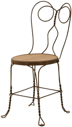 Rejuvenation Twisted Wire Cafe Chair w/ Rusted Finish