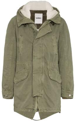 Yves Salomon shearling lined feather down parka