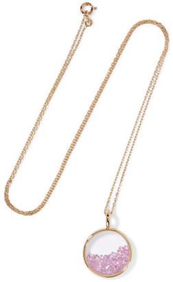 Aurelie Bidermann Baby Chivor 18-karat Gold Sapphire Necklace