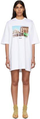 MSGM White Duomo Milan T-Shirt Dress
