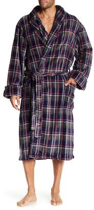 Tommy Bahama Plaid Plush Belted Robe