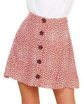 MinkPink Sunset Silhouette Mini Skirt