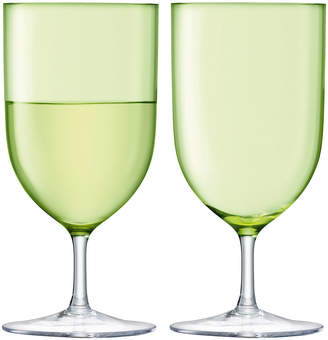 LSA International Hint Blown Wine/Water Glass - Set of 2 - Pale Lime