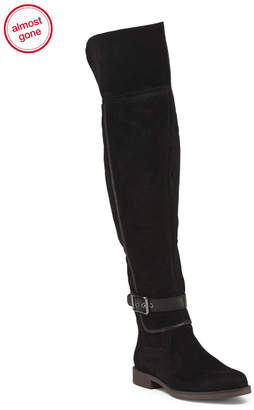 Franco Sarto Wide Calf Suede Over The Knee Boots