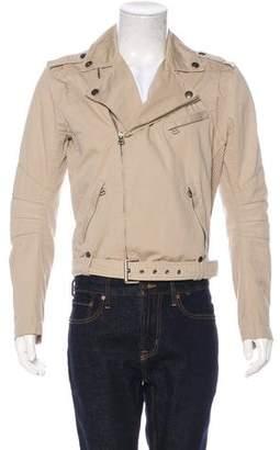 Pierre Balmain Woven Moto Jacket