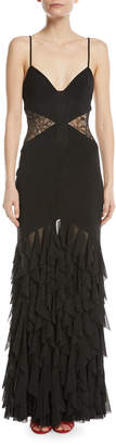 Fame & Partners The Abby Sleeveless Lace Column Gown
