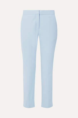 Rosetta Getty Cropped Cotton-blend Twill Straight-leg Pants - Sky blue