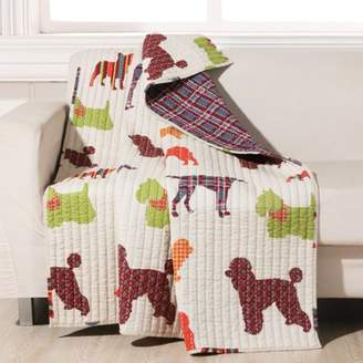 Br.Uno Global Trends Dog Breeds Quilted Throw Blanket, 50x60-Inch