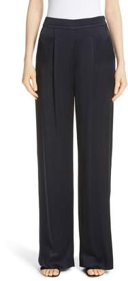 St. John Wide Leg Liquid Crepe Pants