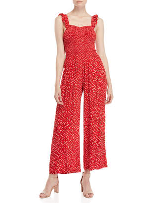 RD Style Printed Smocked Jumpsuit