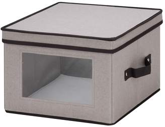 Honey-Can-Do Medium Window Dinnerware Storage Box