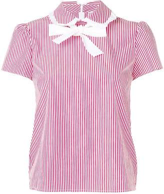 RED Valentino striped bow blouse