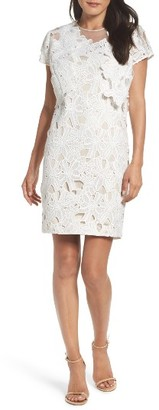Women's Adrianna Papell Cecila Lace Sheath Dress & Jacket Set $220 thestylecure.com