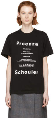 Proenza Schouler Black PSWL Care Label T-Shirt