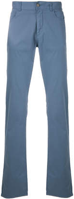 Canali boot cut trousers