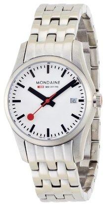 Mondaine (モンディーン) - [モンディーン]MONDAINE レトロ デイト レディース ホワイトダイアル メタルブレスレット A629.30341.16SBM レディース 【正規輸入品】