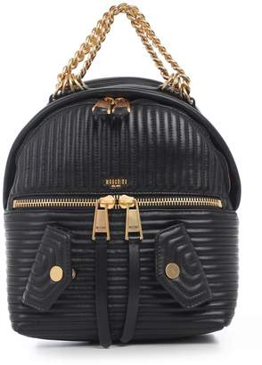 Moschino Quilted Chain Trim Backpack