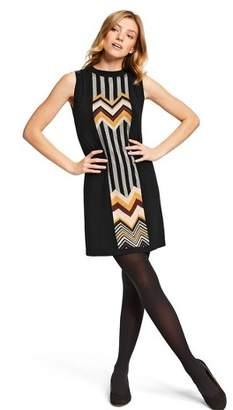 Missoni for Target Women's Zig Zag Stripes Patchwork Sleeveless Crewneck Sweater Dress for Target Black/Brown