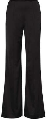 Elizabeth and James Iven Satin Flared Pants - Black
