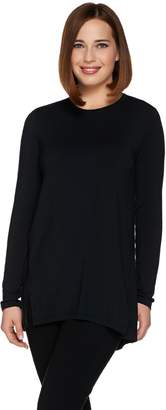 Halston H By H by Essentials Long Sleeve Crew Neck Knit Tunic
