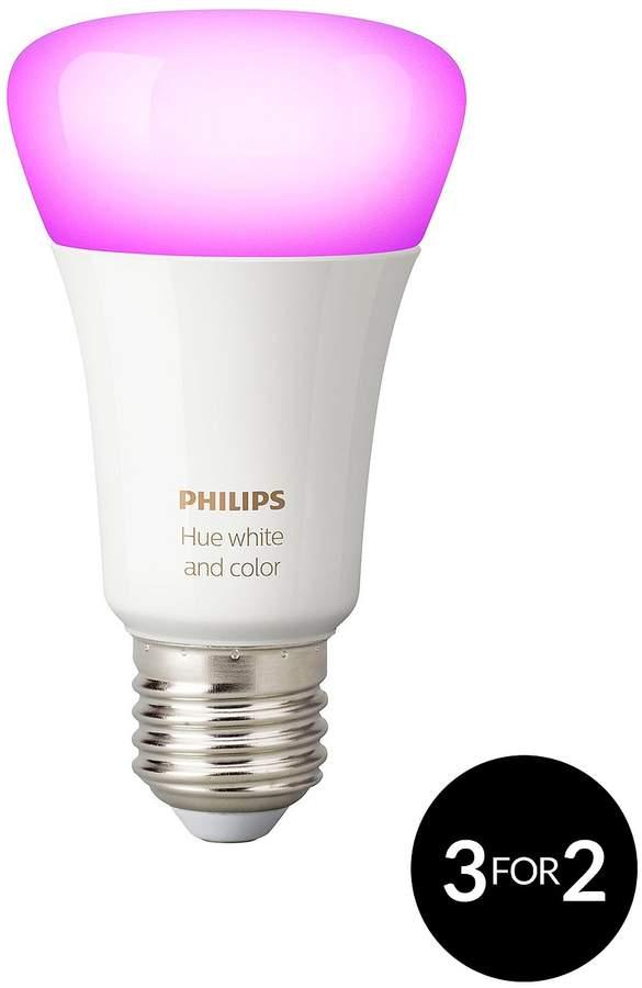 Hue White And Colour Ambiance Wireless E27 LED Single Bulb