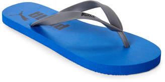 Puma Blue & Grey Logo Flip Flops