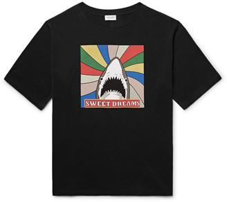 Saint Laurent Slim-Fit Printed Cotton-Jersey T-Shirt $350 thestylecure.com