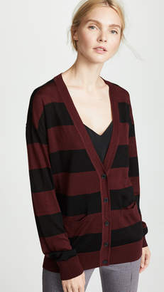 Alexander Wang Wash & Go Cardigan with Rugby Stripe