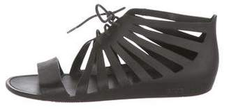 Givenchy Rubber Lace-Up Sandals