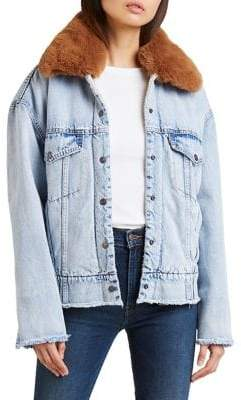 Levi's Oversized Sherpa Denim Trucker Jacket