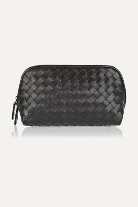 Bottega Veneta - Intrecciato Leather Cosmetics Case - Black $500 thestylecure.com