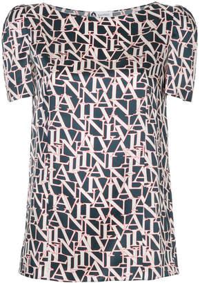 Lanvin monogram print blouse