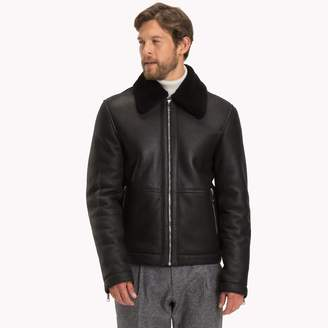 Tommy Hilfiger Leather Aviator Jacket