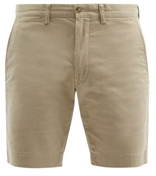 Polo Ralph Lauren Logo Cotton Blend Chino Shorts - Mens - Beige