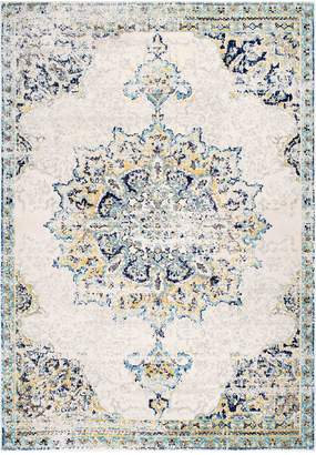 nuLoom Sunny Wildflower Medallion Rug - Blue