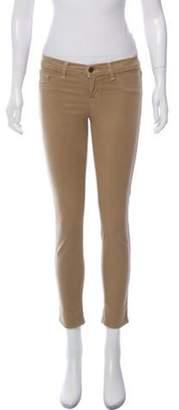 J Brand Low-Rise Skinny Pants Khaki Low-Rise Skinny Pants