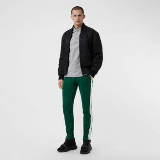 Burberry Stripe Cotton Blend Drawcord Trousers