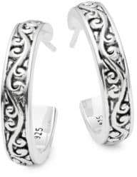 Lois Hill Classic Sterling Silver Geometric Earrings