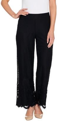 Isaac Mizrahi Live! Regular Engineered Lace Wide Leg Pants