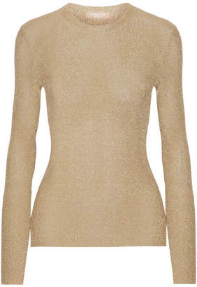 Michael Kors Collection - Metallic Ribbed-knit Sweater - Gold
