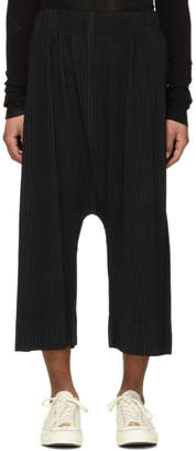 Homme Plisse Issey Miyake Black Drop Crotch Pleated Trousers