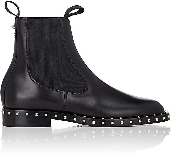 Valentino Garavani Women's Soul Rockstud Leather Chelsea Boots