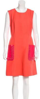 Fendi Wool & Silk Knee-Length Dress w/ Tags