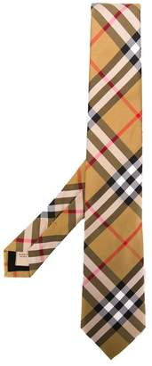Burberry check pattern tie