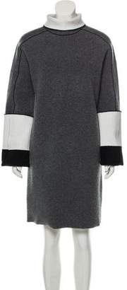 Celine Colorblock Knee-Length Dress